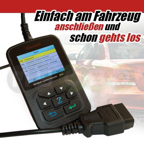 Icarsoft I910 Ii Für Bmw Diagnose Fehler Löschen Inkl Servicereset