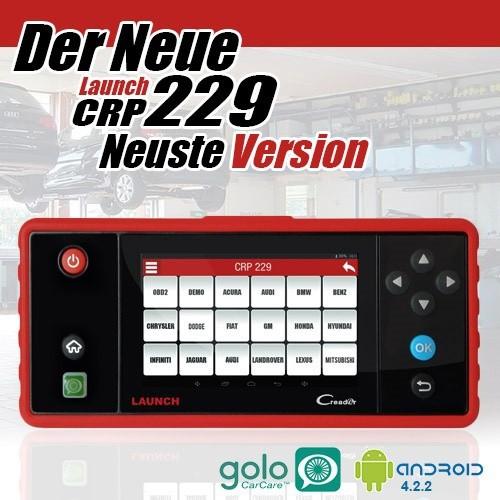 Launch CRP 229 Profi Diagnosegerät alle Steuergeräte ink Service Reset