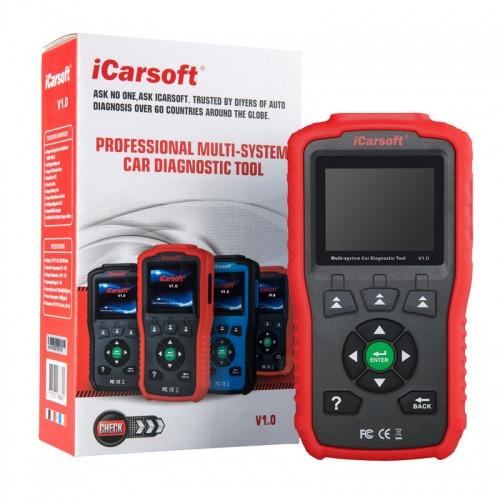 iCarsoft V1 für GM Chrysler Profi Diagnosegerät OBD 2 Diagnose ABS Airbag uvm.